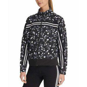 NWOT DKNY Sport Black Floral Jacket Full Zip Small